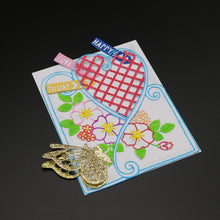 Load image into Gallery viewer, DIY Love Grid Flower Metal Stencil Cutting Die for Scrapbook Album Paper Craft