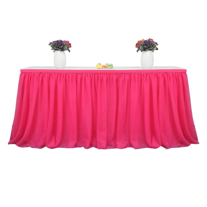 Tutu Tulle Table Skirt Cloth for Party Wedding Home Decor