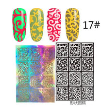 Load image into Gallery viewer, 12 Tips/Sheet DIY Fashion Women Nail Vinyls Nail Art Manicure Stencil Stickers Stamp Template Decals Tool Nice