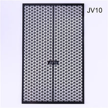 Load image into Gallery viewer, Fish Scale Nail Vinyls Adhesive Ultra-thin Plaid Net Line Hollow 3D Nail Stencil Sticker for Manicure Nail Art Decoration