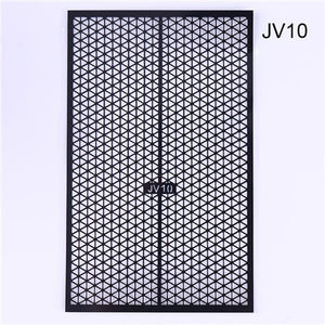 Fish Scale Nail Vinyls Adhesive Ultra-thin Plaid Net Line Hollow 3D Nail Stencil Sticker for Manicure Nail Art Decoration