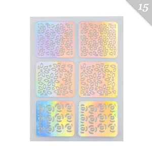 3 Designs In 1 Sheet Laser Vinyls Nail Hollow Sticker Gold Grid Irregular Patterns Tips Tool For Nail Art Stencil Manicure SA350