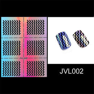 23 Types Irregular Grid Stencil Reusable Nail Art Vinyls Hollow Stickers Stamping Template Nail Tools DIY Manicure