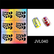 Load image into Gallery viewer, 23 Types Irregular Grid Stencil Reusable Nail Art Vinyls Hollow Stickers Stamping Template Nail Tools DIY Manicure
