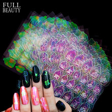 Load image into Gallery viewer, New 3D Nail Vinyls Sets DIY AB Chameleon Adhesive Charms Xmas  Sticker Nail Art Stencils Guide Manicure Decoration Tips CH626