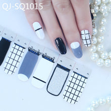 Load image into Gallery viewer, Mixed Design nail art stickers 14tips/sheet Spring Summer style full cover Nail Vinyls Decals Manicure Stickers nail wraps BZ054