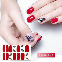 Load image into Gallery viewer, 14tips/sheet Beauty Nail Art Stickers Full Cover Sticker Wraps Decorations DIY Manicure Slider Nail Vinyls Adhesive Nails Decals