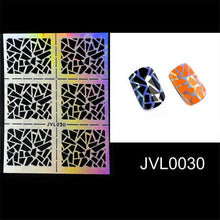 Load image into Gallery viewer, Mtssii Hollow Laser Nail Art Sticker Stencil Set Gel Polish Nail Vinyl Tip Transfer Guide Template Nail Decals Stickers 1 Sheet
