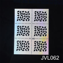 Load image into Gallery viewer, 2019 New DIY Nail Vinyl Nail Art Irregular Grid Pattern Stamping Tips Manicure Template Hollow Sticker Guide