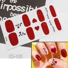 Load image into Gallery viewer, 14 Tips/Sheet Women Nail Art Adhesive Pure Color Nail Stickers Wraps Full Cover Adhesive Nail Beauty Decals Manicure Nail Vinyls
