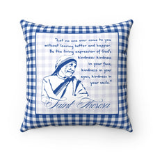 Saint Mother Theresa Pray For Nigeria Quote Square Pillow