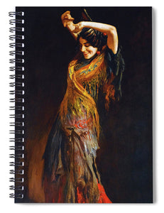 The Flamenco Dancer - Spiral Notebook