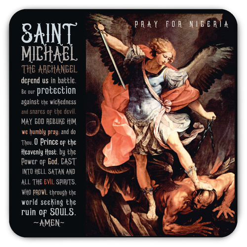 Saint Michael The Archangel - Pray For Nigeria Magnet