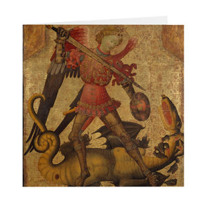 Saint Michael and the Dragon Greeting Cards