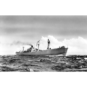 Former WWII Liberty Ship (SS Peleg Wadsworth) SS Samtampa Historic Steamship Metalic Print - 11 x 17