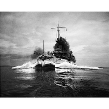 USS Connecticut (BB 18) WWI Navy Battleship 1907 Historical Poster Print