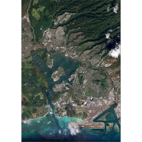 Pearl Harbor From Space Posters