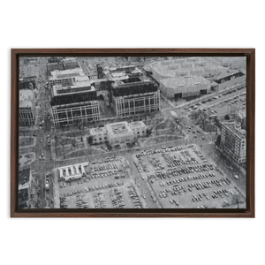 Aerial of US Patent Office on Canvas in Washington, DC on Framed Canvas