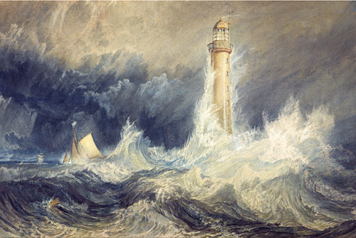 Joseph Mallord William Turner's Bell Rock Lighthouse Poster