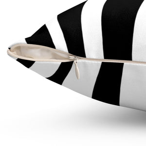 Bold Zebra Animal Print Decorative Square Pillow