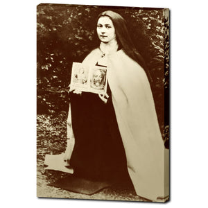 St. Therese Lisieux  Canvas Restoration of French Catholic Saint