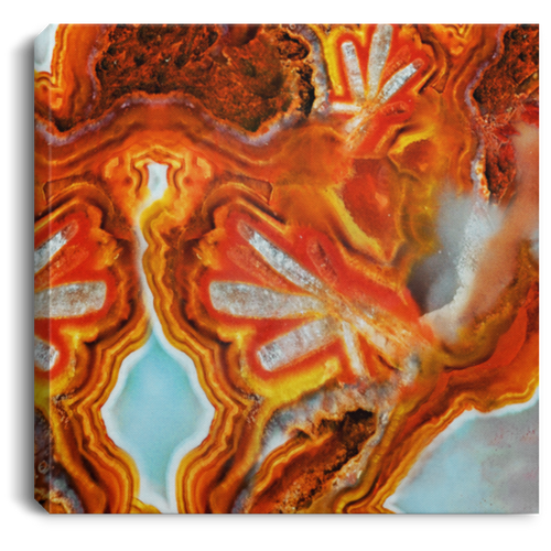 Burst Abstact Agate Wall Art Canvas Gallery Wrap