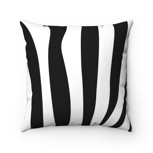 Simple Zebra Animal Print Square Pillow