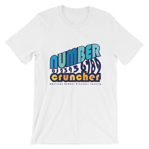 "100% Cotton ""Number Cruncher"" Math Lover Retro Rare T-Shirt"