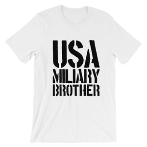 "Short-Sleeve ""USA Military Brother"" T-Shirt"