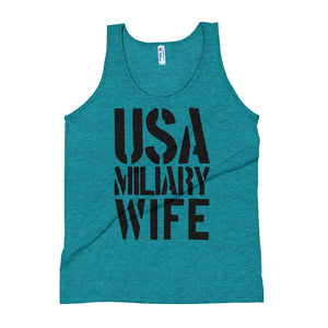 Rare Sexy USA Military Wife Tank Top