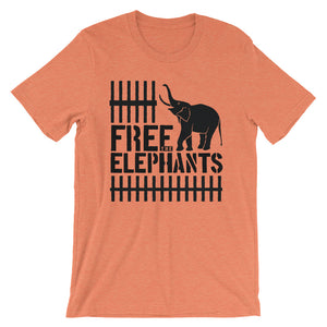 "Short-Sleeve Unisex ""Free The Elephants"" T-Shirt"