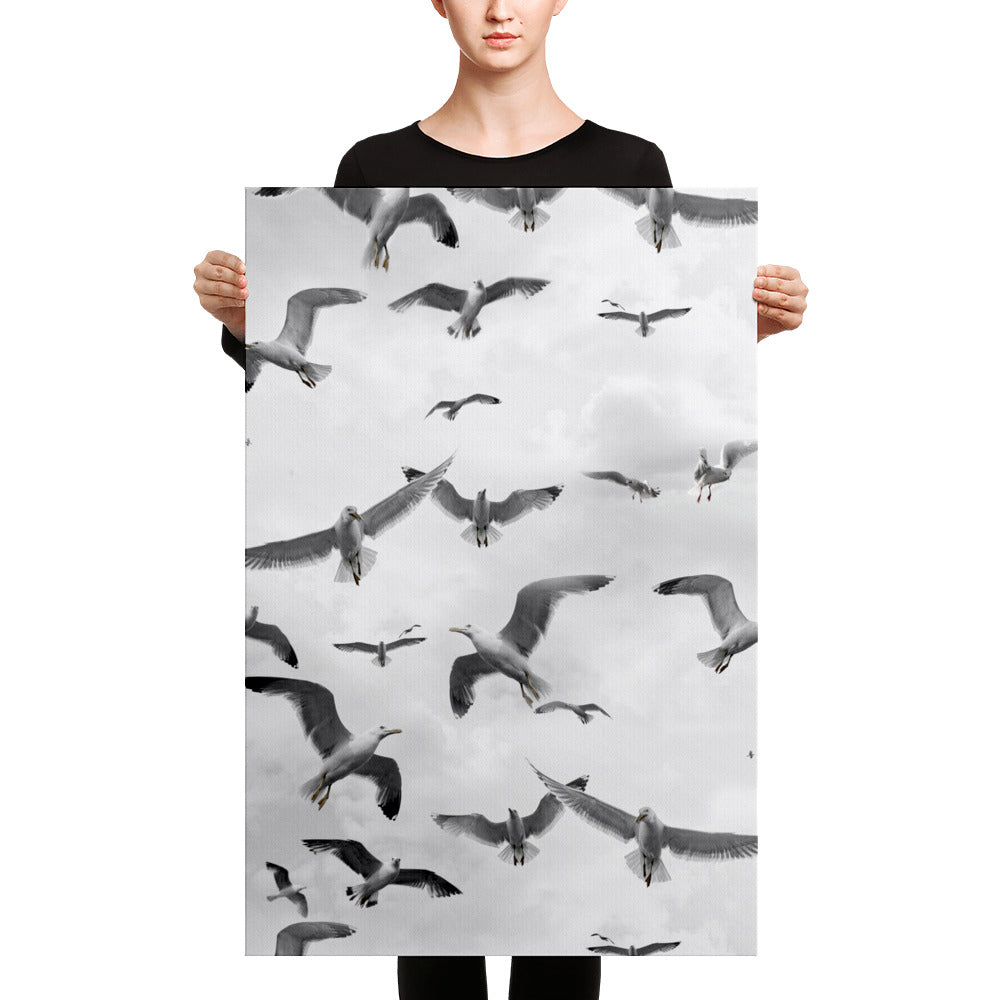 Randomized Nautical Seagulls on Hand Stretched Canvas