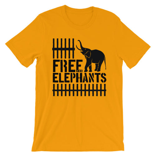 Short-Sleeve Unisex Free The Elephants T-Shirt