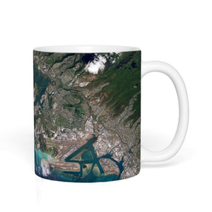 11 Ounce Pearl Harbor From Space Coffee Mug