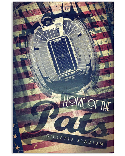 Home of the New England Pats Gillette Stadium Artist's Poster Proof