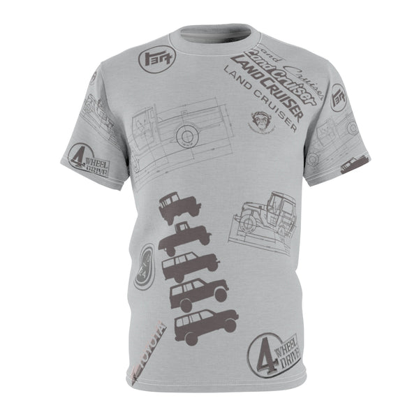 Land Cruiser Gray AOP Cut & Sew Premium Tshirt by Reefmonkey