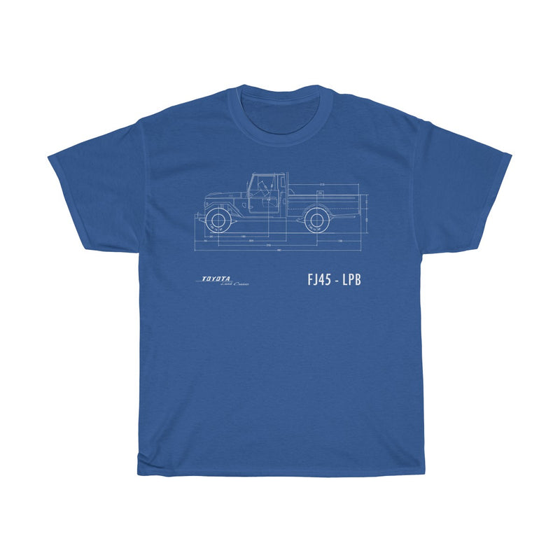 Toyota Land Cruiser FJ45 Tshirt FSM Diagram - Classic Fit Version