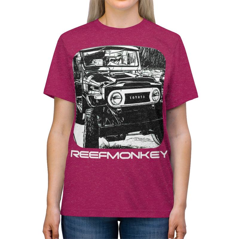 FJ40 Land Cruiser HUGE Graphic Unisex Triblend Tshirt