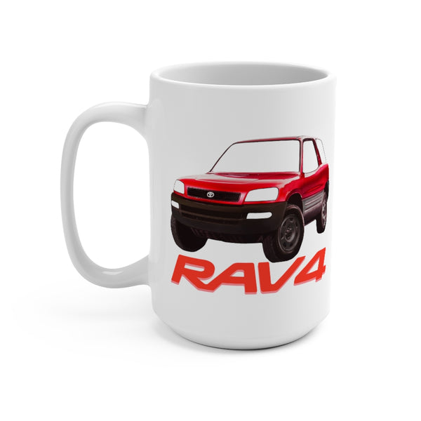 Toyota RAV4 Coffee Mug 15oz by Reefmonkey