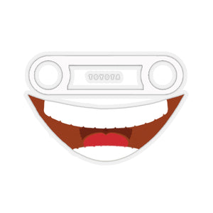 FJ40 Emoji Smile Decal Stickers Toyota Land Cruiser Gift for Car Guys by Reefmonkey