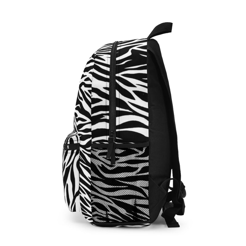 Zebra Animal Print Backpack (Made in USA) by Reefmonkey Back to School