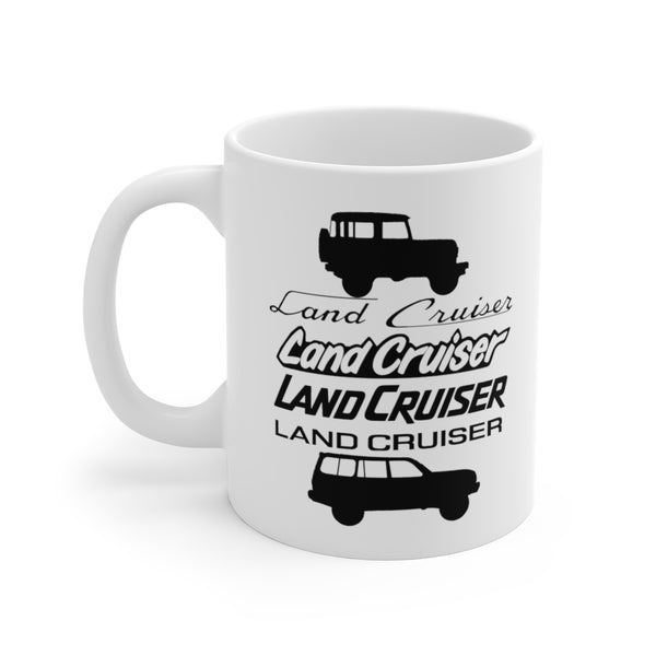 Land Cruiser Fonts Coffee Mug FJ40 to FJ80 Toyota Land Cruiser Coffee Mug