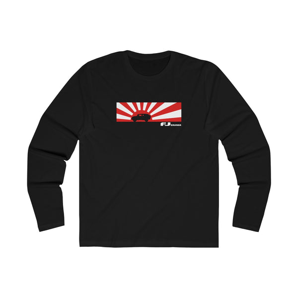 FJ Cruiser Rising Sun Silhouette Slim Fit Long Sleeve Tshirt