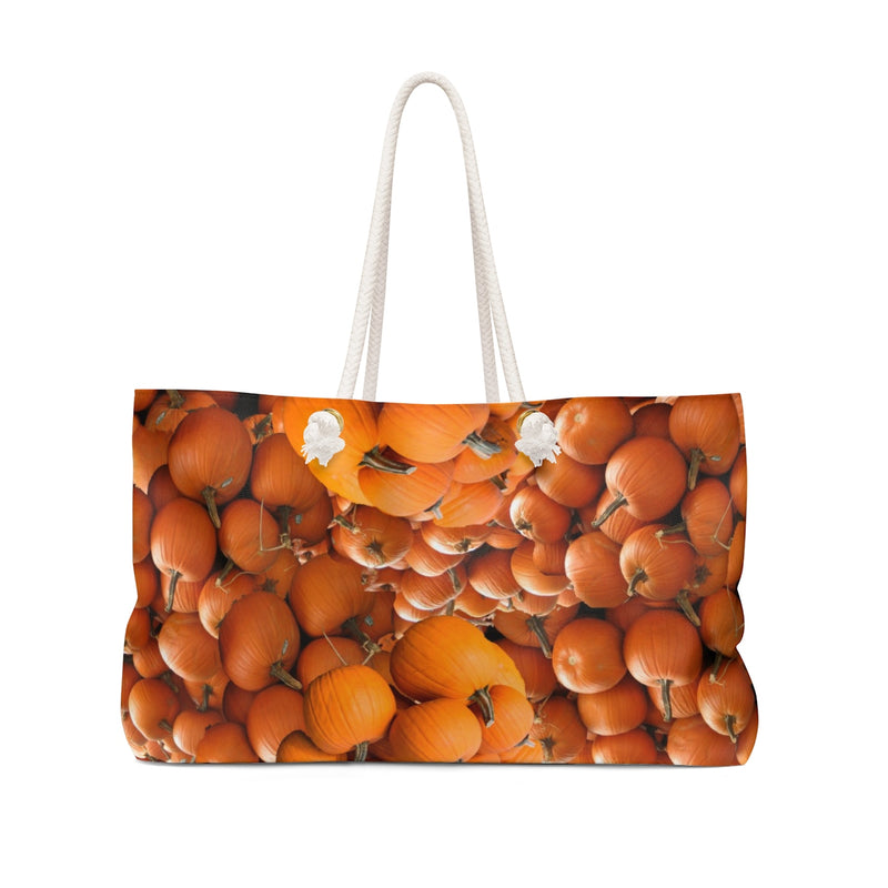 Pumpkin Weekender Tote Bag Halloween Fall Autumn