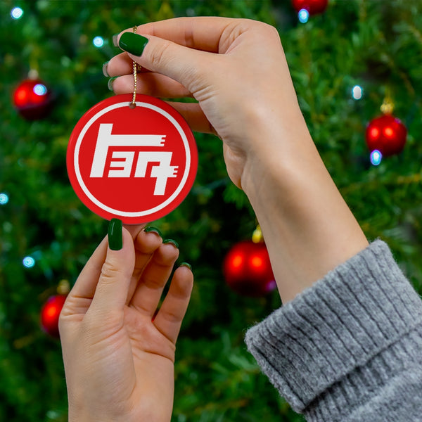 TEQ Toyota Ceramic Christmas Tree Ornaments by Reefmonkey Great Gift for Toyota Fans