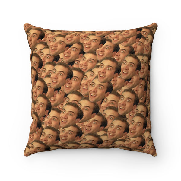 Capital Cruiser Club Nicholas Cage Faux Suede Square Pillow