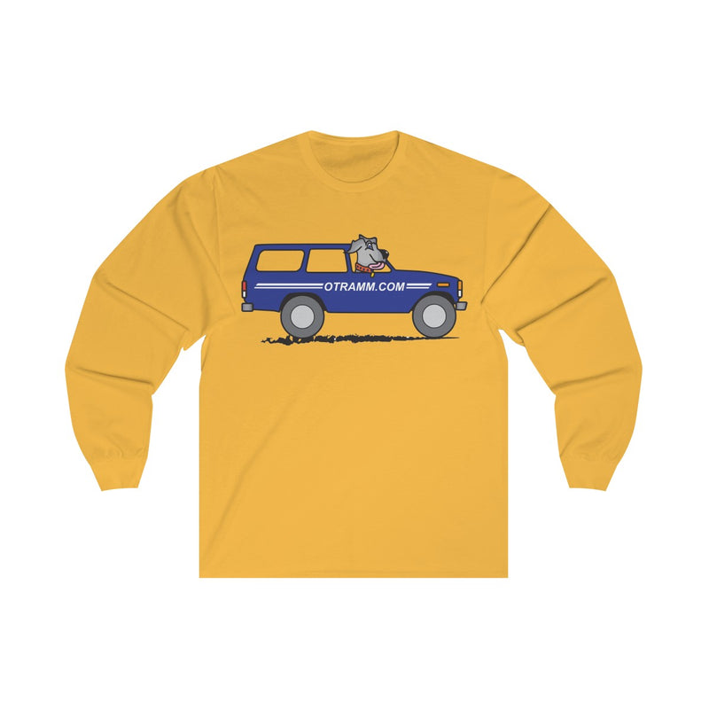 OTRAMM Long Sleeve Shirt Land Cruiser FJ60 with Dog Long Sleeve Tee