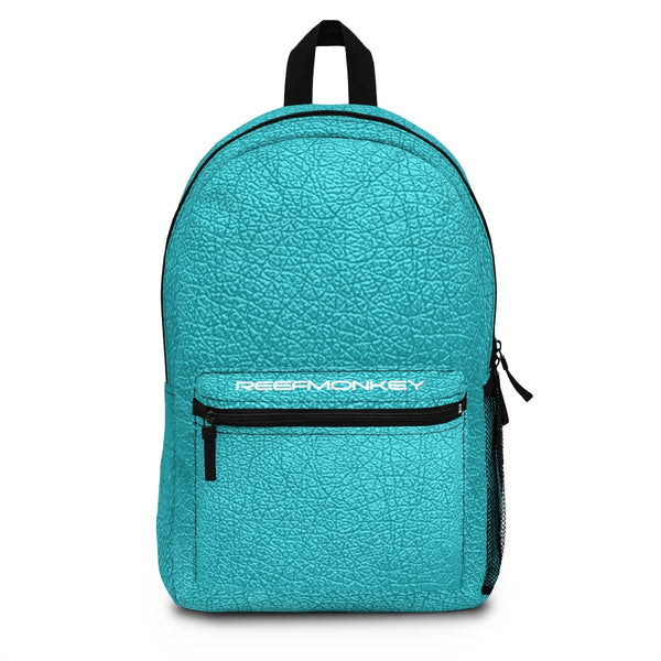 Blue Leather Backpack (Made in USA) by Reefmonkey