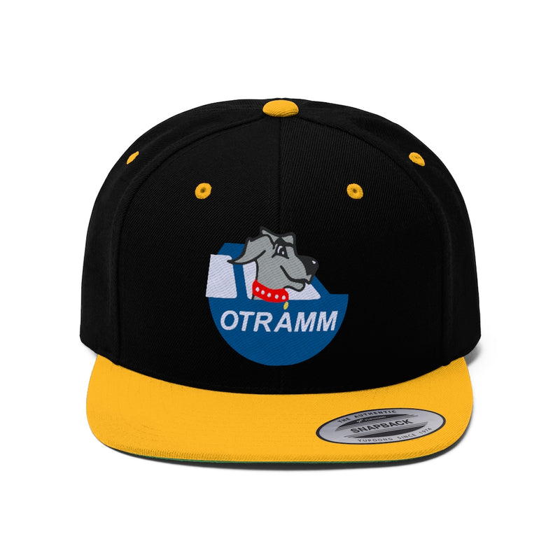 OTRAMM Embroidered Flat Bill Hat Toyota FJ60 Land Cruiser and Dog Embroidered Flat Brim Snapback Hat