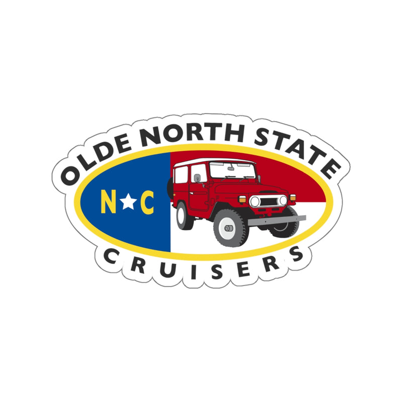 ONSC Olde North State Cruisers Land Cruiser Club Large Sticker by Reefmonkey